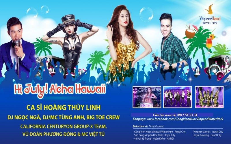 Đại tiệc Pool Party - Hi July, Aloha Hawaii!!